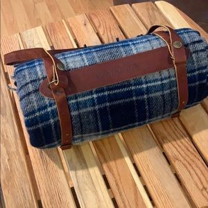Pendleton Wool Blanket with leather strap